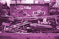 Metal madness: Chop-shop tool box.