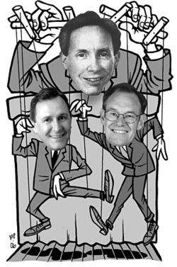 Utah AG Mark Shurtleff (left) and Arizona AG Terry Goddard have become Prophet Warren Jeffs' puppets.
