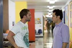 Oh, boys: Seann William Scott and Paul Rudd are forced to do good in Role Models.