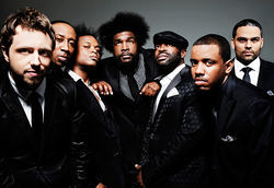 Questlove (center) with The Roots