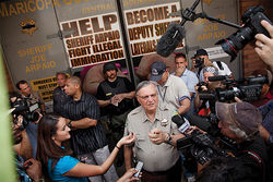 Sheriff Joe Arpaio at a protest