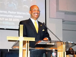 The Reverend Warren H. Stewart Sr..