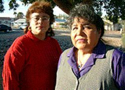 Mercedes Robles and Evangeline Carillo are still waiting to serve the community that elected them.