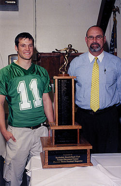 Nixon with high school coach Dallas Hickman.