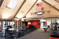 Inside Scott Ruth's FitLife gym, at 44th Street and Indianola Road.