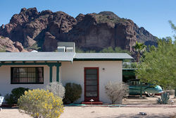 The L. Ron Hubbard House on 44th Street north of Camelback Road.