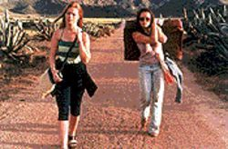 Callar the wild: Kathleen McDermott and Samantha Morton in Morvern Callar.