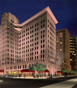 An artist's rendering of the Hotel Monroe,  one of the multimillion-dollar projects now stalled because Mortgages Ltd. couldn't fund the loan.