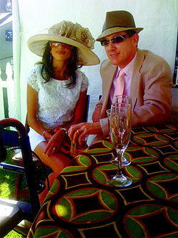 Ashley and Scott Coles at the Derby Day fundraiser in the Biltmore, three weeks before Scott took his life.