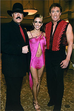 "Reportedly, the cardboard cutout of Ashley Coles found next to Scott Coles' body came from this ""Dancing with the Stars"" fundraiser in February. Here, Ashley poses with two professional dancers."