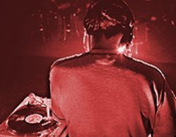 Caught from behind: DJ Shadow warms up during his recent Nita&#039;s Hideaway appearance.