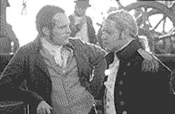 Full speed ahead: Paul Bettany and Russell Crowe are shipmates in Master and Commander: The Far Side of the World.