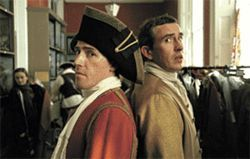 True Brit: Rob Brydon (left) and Steve Coogan parody themselves in Tristram Shandy: A Cock & Bull Story.