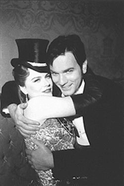 Life is a cabaret: Nicole Kidman as Satine the  beauteous and Ewan McGregor as Christian the  innocent in Moulin Rouge.