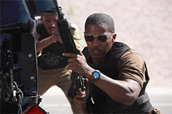 Cowboys and Arabs: Jamie Foxx is ready to add to the body count in The Kingdom.