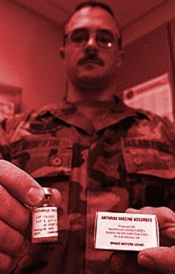 The Pentagon has ordered all 2.4 million active and reserve members of  the military to receive a vaccine designed to protect them against a  biological anthrax attack.