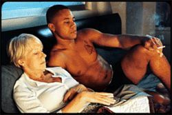 Odd couple: Helen Mirren and Cuba Gooding Jr. make strange bedfellows in Shadowboxer.