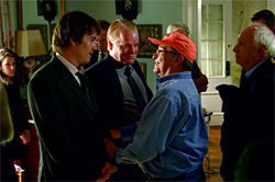 Happy accidents: Sidney Lumet directs Ethan Hawke and Philip Seymour Hoffman in Before the Devil Know Youre Dead.