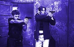 Although Ryan Phillippe (left) and Benicio Del Toro shoot more than they talk, the silences mean a lot in The Way of the Gun.