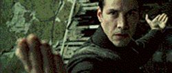 End of the line? Keanu Reeves returns as Neo in The Matrix Revolutions.