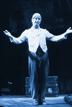 Geoff Hoyle plays a music-hall clown and silent-film actor in The First Hundred Years.