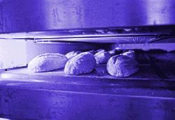 WILLO loaves brown in the company&#039;s four-deck French oven.