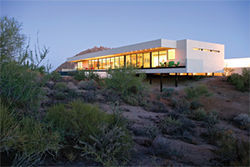 Treg Bradley's ultra-modern home in north Scottsdale, designed by architect Michael P. Johnson.