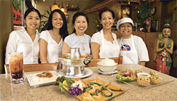 The lovely ladies of Lemon Grass Thai Café serve up spicy specialties.