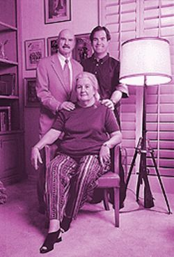 All in the family: G. Gordon, Tom and Frances at the senior Liddys' Scottsdale home.