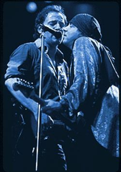Blood brothers: Jersey devils Springsteen and Miami Steve Van Zandt.