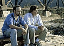 Buddy pic: Paul Giamatti (left) wants to give his soon-to-be-married friend Thomas Haden Church one last fling in Sideways.