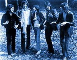 Good boys, sort of: The Faces, from left, Kenney Jones, Rod Stewart, Ronnie Lane, Ron Wood, Ian McLagan.