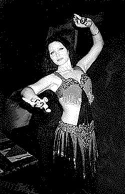 Navel gazing: Belly dancers shake it at Sinbad.