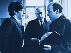 Richard Lester directs a young Paul McCartney on the set of A Hard Day's Night.