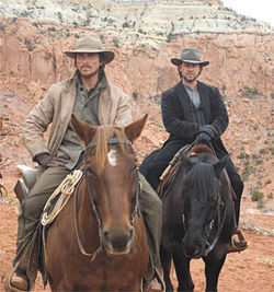 The shootists: Christian Bale and Russell Crowe at odds in 3:10 to Yuma.
