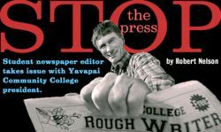 The Rough Writer&#039;s recent issues included complaints about president Doreen Dailey, an investigation into consulting fees and acerbic editorial cartoons.