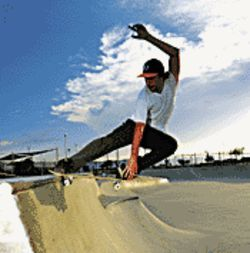 Air time: Local skateboarder Randal Wilson stars in Shake Junt.