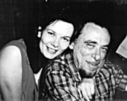 Bukowski or bust: Linda King with the man himself in  1972.