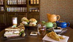 Hip to sip: Fresh-brewed tea goes well with chef Christopher Jinette's creations at The Urban Tea Loft.
