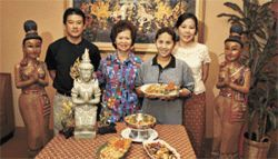 Thai thanks-giving: The Line Thai crew (from left), co-owner Priya Supriyasilp, Chef Thim, Chef Chawn, and co-owner Rattiyaporn Chaiyasut.