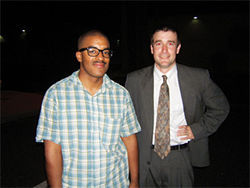 "Buggin' out: Christopher ""AR-15"" Broughton (left), and his spiritual adviser, Obama-hatin' Tempe pastor Steven Anderson."