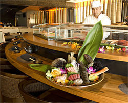 Raw, raw!: The sushi bar's the place to be at Sushi Roku.