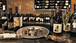 Tiny terroir: A new nook at Westgate serves up interesting wines and chocolates.