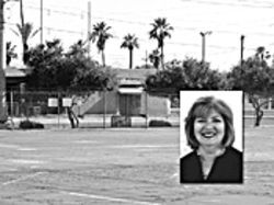 The APS parking lot sold to Mary Rose Wilcox (inset).