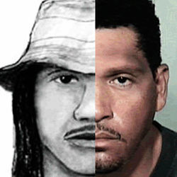 The composite sketch of Goudeau bore great resemblance to the serial killer.