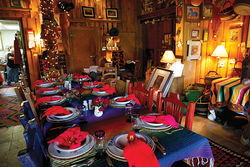 The dining room at Aravaipa Farms