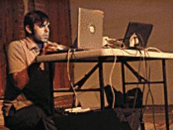 Primal screen: Terminal 11 -- a.k.a. Mike Castaneda -- creates experimental electronica at the monthly Thru the Wires.