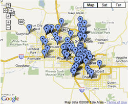 Click to see a google map version of the Cinco De Mayo guide.
