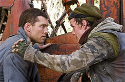 Back to the future: Sam Worthington and Anton Yelchin hope to save the resistance.