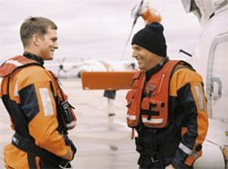 Ocean's two: Ashton Kutcher and Kevin Costner enjoy saving lives in The Guardian.